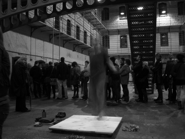 Fergus Byrne Performance Art Kilmainham 2010 (Photo by James Moore)
