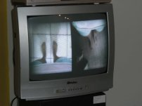 Split screen video performance piece by Marissa Baldiera shown in Chapeco Brazil and in the Pearse Museum in Dublin