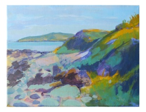 Lambay from Rush 30x24cm